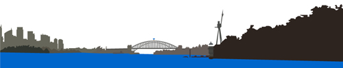 Sydney Harbour - Vector Illustration
